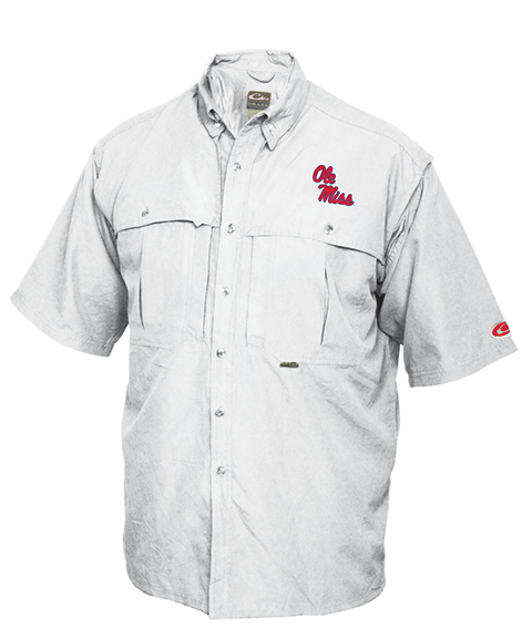 Drake Ole Miss Vented Short Sleeve Wingshooter's Shirt