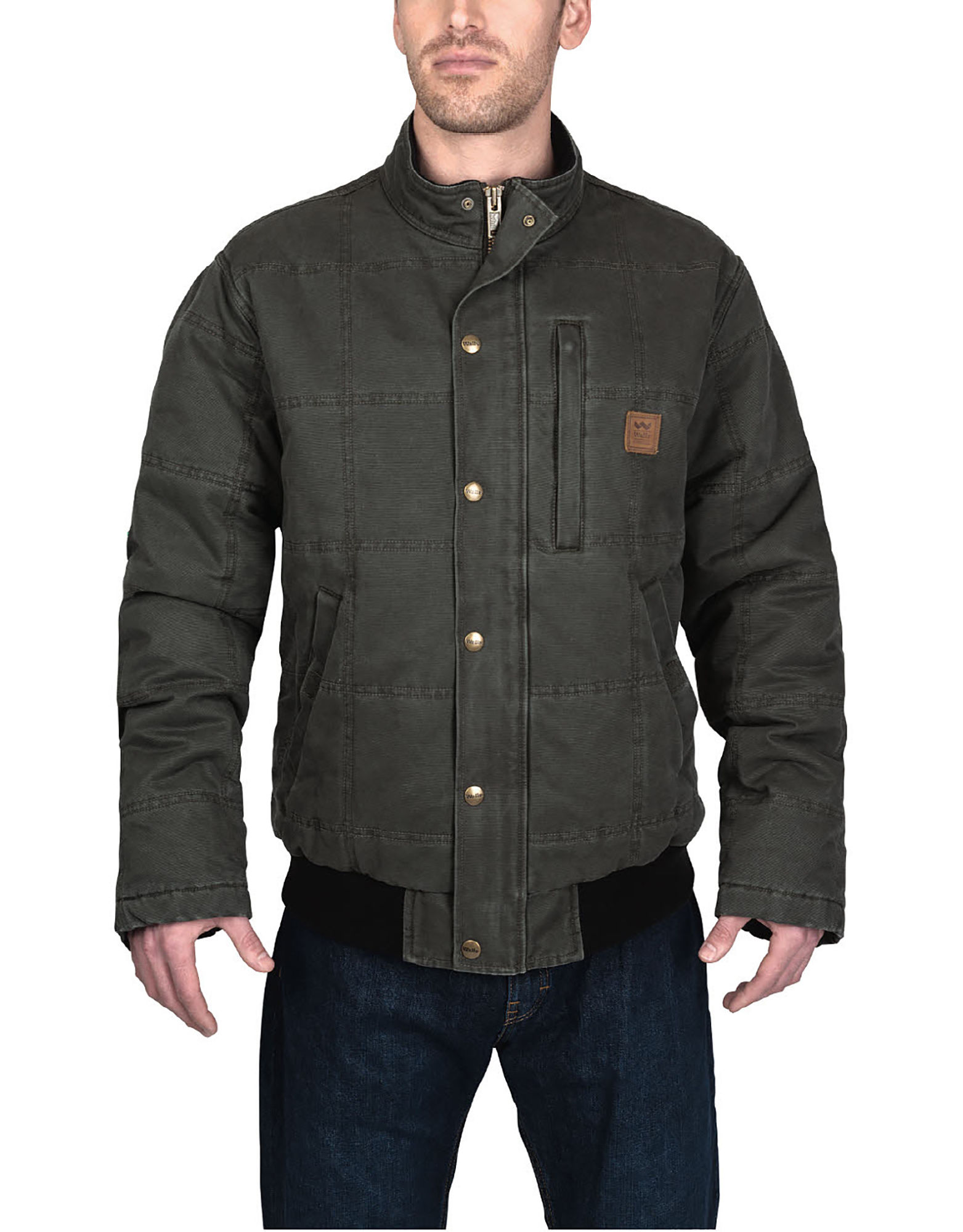 Walls Mens Driftwood Vintage Quilted Jacket