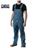 Walls Mens Stonewashed Denim Bib Overall