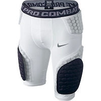 Nike Youth Pro Combat Hyperstrong Compression Shorts -White/Black - Large