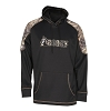 Rocky Mens Black And Camo Logo Fleece Hoodie