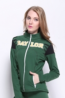 Baylor Bears Womens Yoga Jacket (Green)