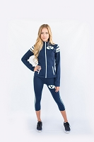 BYU Cougars Womens Yoga Jacket (Navy Blue)