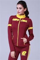 Central Michigan Chippewas Womens Yoga Jacket (Maroon)