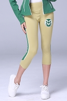 Colorado State Rams Womens Yoga Capri Pant (Gold)