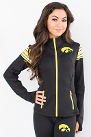 Iowa Hawkeyes Womens Yoga Jacket (Black)