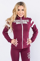 Mississippi State Bulldogs Womens Yoga Jacket (Maroon)