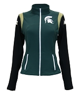 f0c2aaa865fe12 Michigan State Spartans Women's Yoga Jacket (Green)