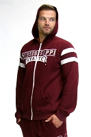 Mississippi State Bulldogs Full-Zip Hoodie (Maroon)