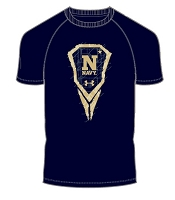 Under Armour Boys Logo Navy Lacrosse Tee Shirt