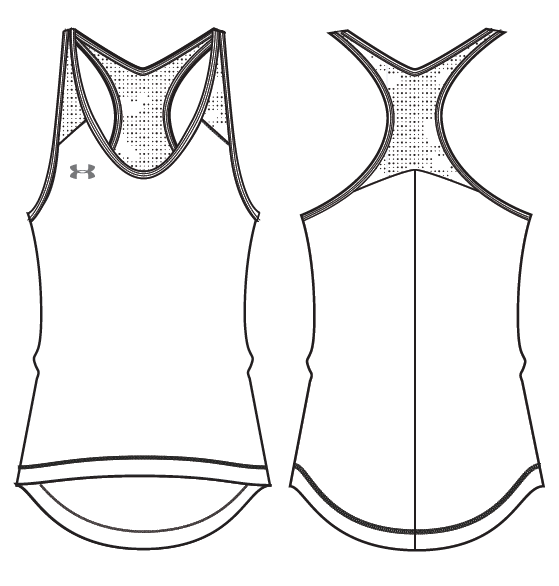 Under Armour Womens Center Court Tennis Tank 1290905