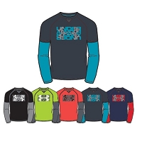 Under Armour Boys Waffle 2-in-1 T-Shirt