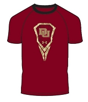 Under Armour Boys Logo University Of Denver Lacrosse Tee Shirt