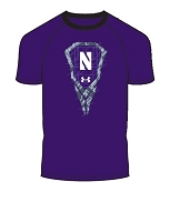 Under Armour Boys Logo Northwestern Lacrosse Tee Shirt