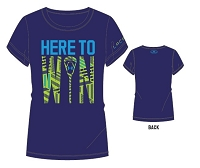 Under Armour Girls Here To Win Lacrosse Shortsleeve Tee Shirt