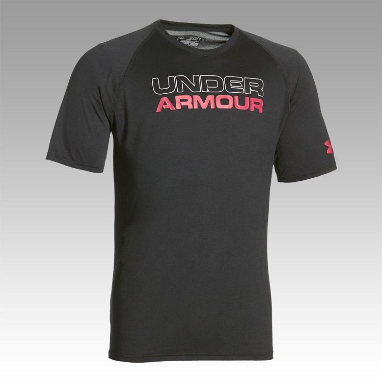 Under armour mens stacked wordmark t shirt 1265523 for Under armor business shirts