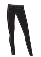 Under Armour Womens Coldgear Compression Tight Lacrosse Legging