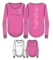 Under Armour Womens Power In Pink Long Sleeve