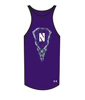 Under Armour Womens BFE Reverse Racer Northwestern Lacrosse Tank