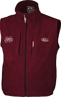 Drake Mississippi State Windproof Fleece Vest