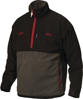 Drake Arkansas Game Day Eqwader Quarter Zip - Black - Size LARGE