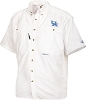 Drake Kentucky Vented Short Sleeve Wingshooter's Shirt - White - Size Medium
