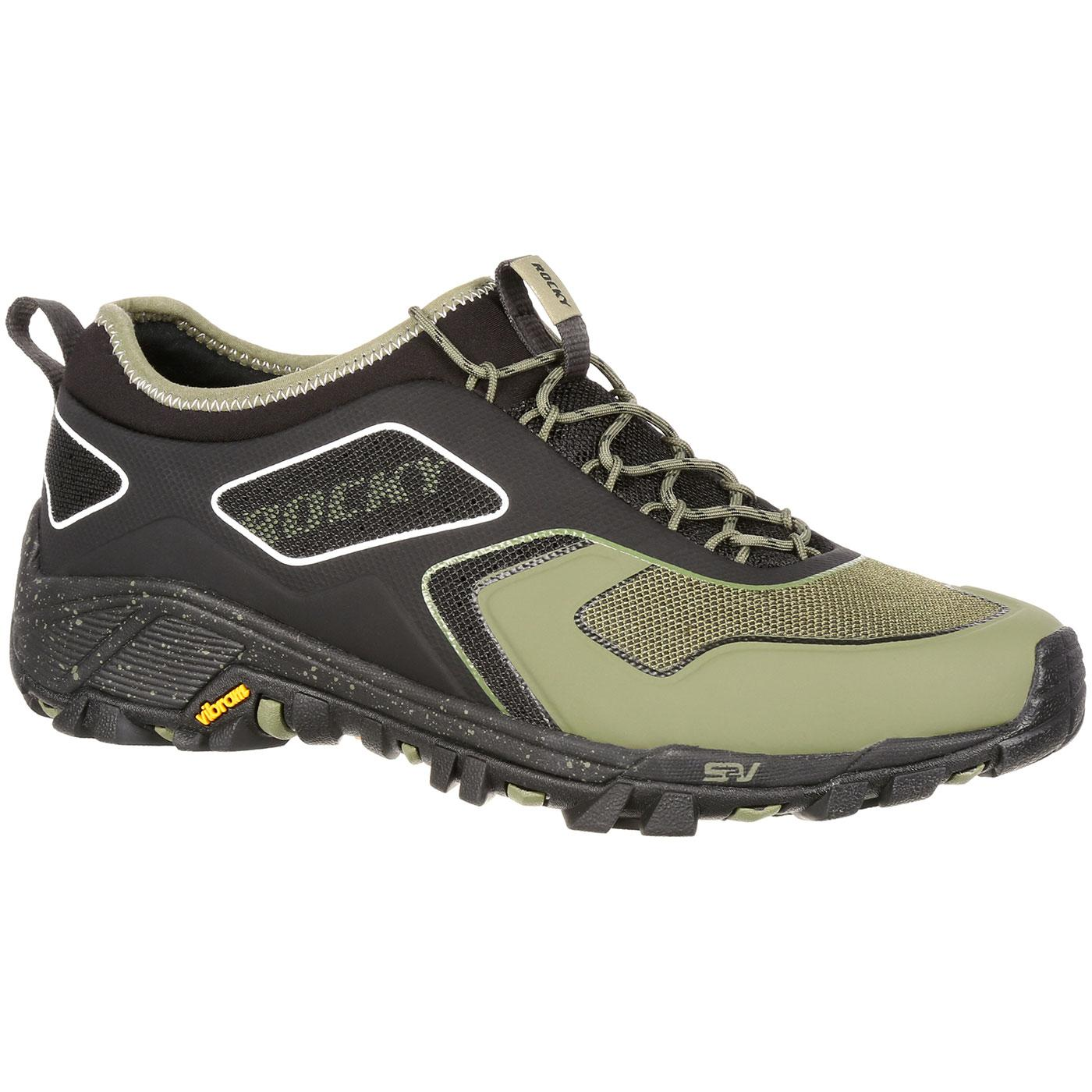 Rocky Mens S2V Olive Black Trail Runner Sneaker Shoe