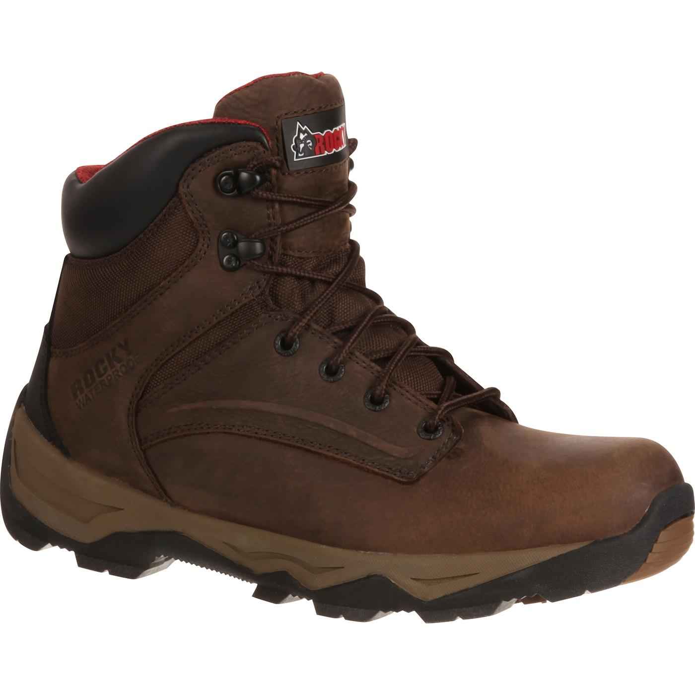 Rocky Mens Retraction Steel Toe Waterproof Work Boots