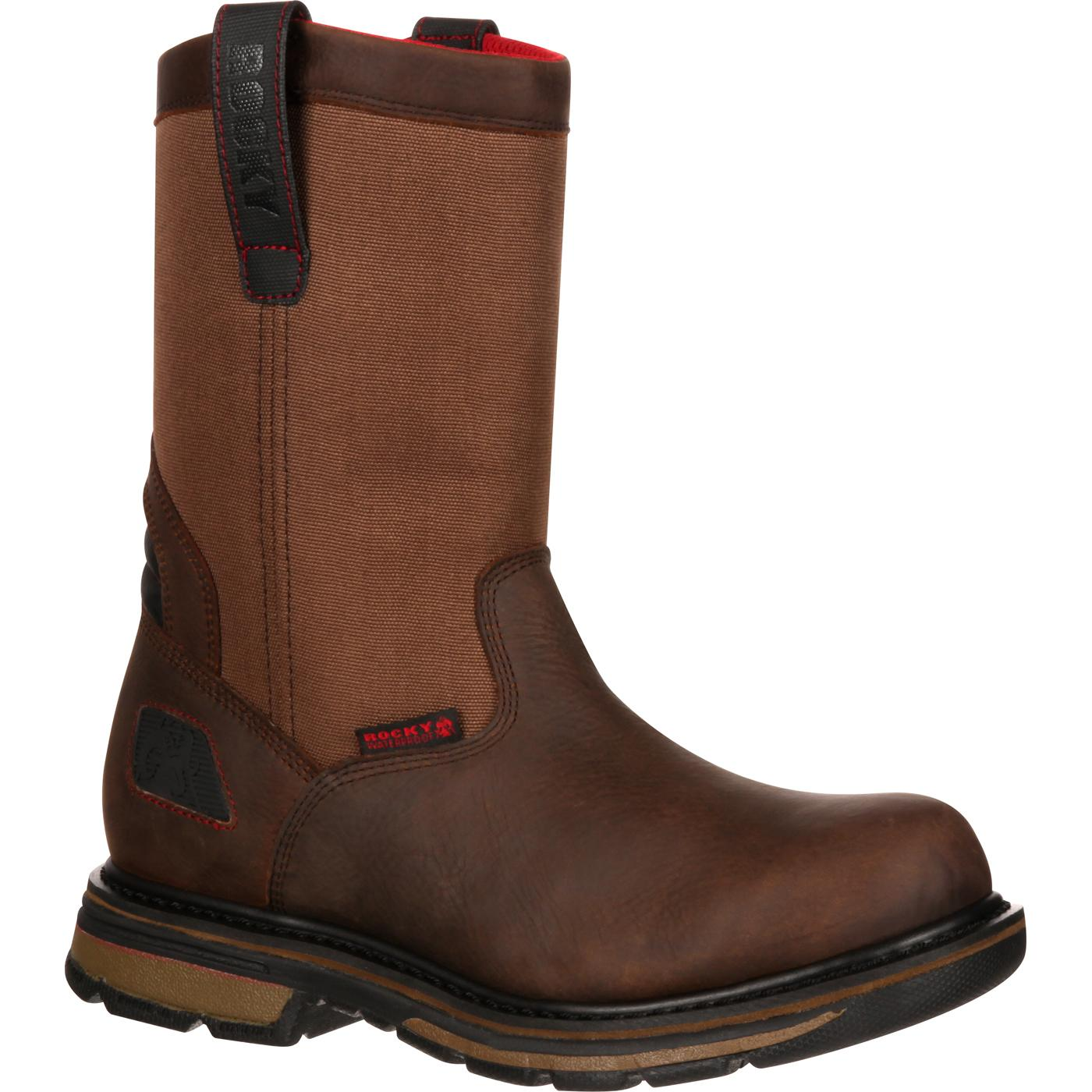Rocky Mens Hauler Composite Toe Waterproof Pull On Work Boot