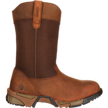 12787d1b7b7 Rocky Womens Aztec Steel Toe Pull-on Boot