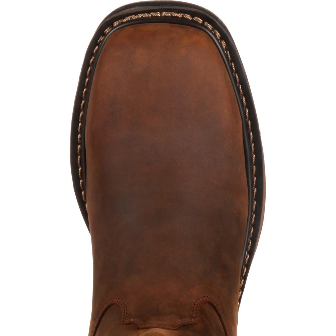 cf9d20a16d4 Rocky Mens Original Ride Steel Toe Western Boot