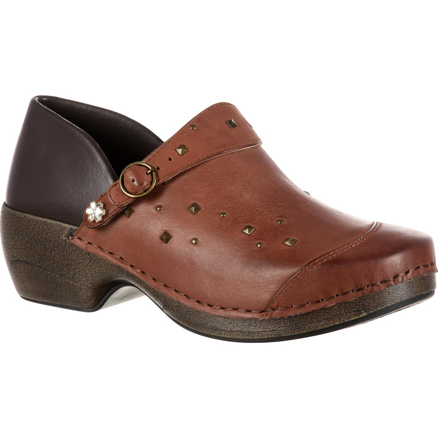 Rocky Womens 4EurSole Inspire Me Studded Leather Clog RKYH041