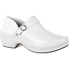 Rocky Womens 4EurSole White Inspire Me Leather Clog