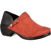 Rocky Womens 4EurSole Burgundy Inspire Me Nubuck Leather Clog