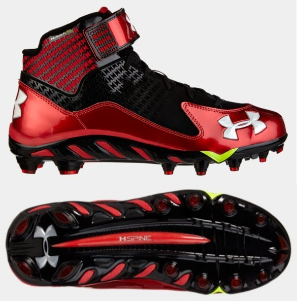 under armour youth football cleats orange