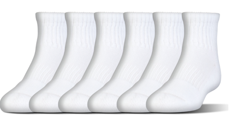 Under Armour Charged Cotton 2.0 Quarter Length Socks 6-Pack