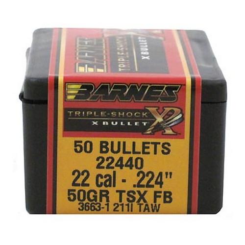 "Tsx Quotes: Barnes Bullets 22440 223 Cal .224"" 50gr TSX FB /50"
