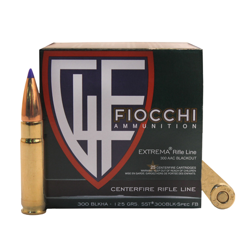 Fiocchi Ammo 300BLK 125gr SST /25