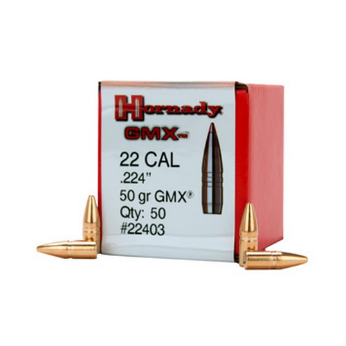 Hornady 22 Cal  224 50 Gr GMX/50