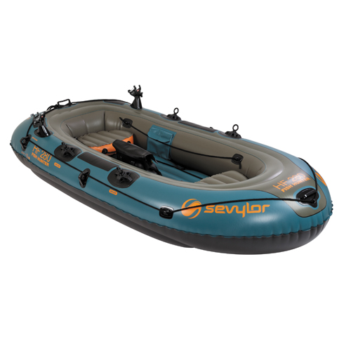 Sevylor inflatable boat fishunter 4p combo for Inflatable boats for fishing