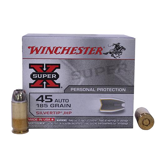 Acme Auto Sales >> Winchester Ammo SupX 45 Auto 185gr Silvrtip HP/20