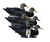 Higdon Decoys Battleship Black Duck - Foam Filled