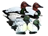 Higdon Decoys Battleship Diver Pack - Foam Filled - Drakes - 2 Bluebills - 2 Cavasbacks - 1 Buffelhead - 1 Goldeneye
