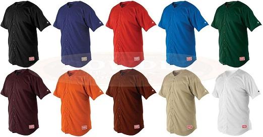 new product d94ea 516aa Rawlings Adult Full Button Baseball-Softball Jersey RBJ167