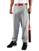 Teamwork Athletic Youth Two Snap Closure Baseball Pant - Gray - Size XS