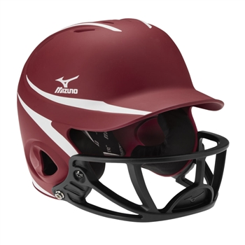Mizuno MVP MBH252 L/XL Two-Tone Batters Baseball Helmet w/ Polycarbonate Facemask