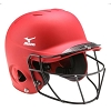 Mizuno MVP Solid S/M Batting Helmet With Fastpitch Softball Wire Mask