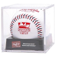 Rawlings 2014 All Star Game Baseballs in Display Case