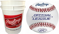 Rawlings 36 R100HSX Practice Baseballs and Bucket