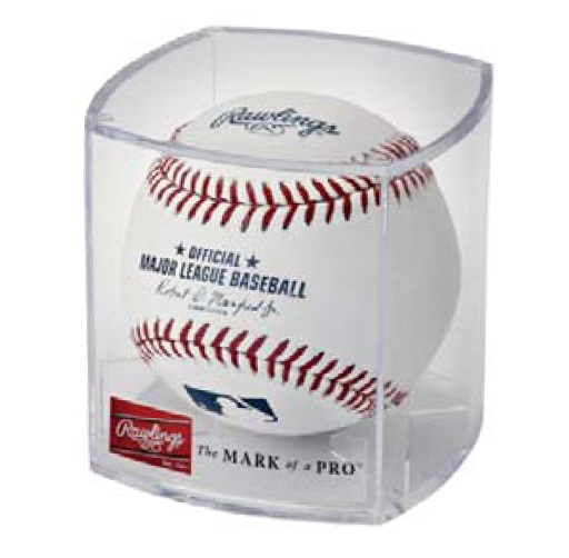 Rawlings Individual Crystal Styrene Baseball Display Case